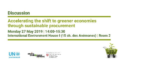 Accelerating the shift to greener economies through sustainable procurement